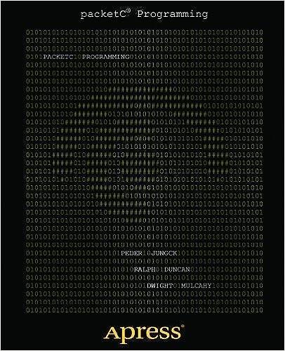 Book packetC Programming 1st edition by Jungck, Peder, Duncan, Ralph, Mulcahy, Dwight (2011)