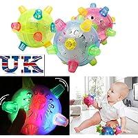 Baby Kids HLassic Toy Jumping Flashing Light Up Bopper Vibrating Sound Ball