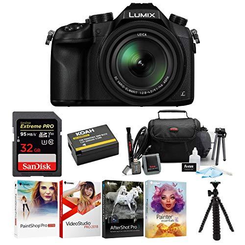 Panasonic LUMIX DMC-FZ1000 16X Long Zoom Digital Camera (Black) with 32GB Deluxe Accessory Bundle
