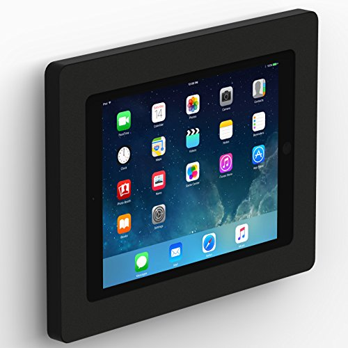 VidaMount iPad (5th Gen) 9.7/Pro Air 1/2 Fixed Vesa Slim Wall Mount - Black by VidaBox Kiosks