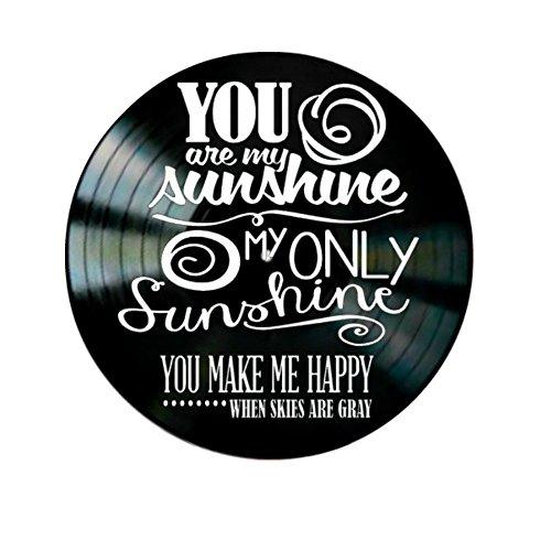 You Are My Sunshine song Lyrics on a Vinyl Record Album