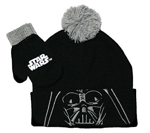 Disney Star Wars Little Boys Darth Vader Winter Hat & Mit...