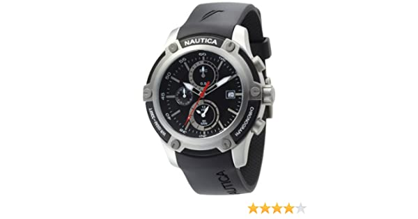 Amazon.com: Nautica Mens N16558G NST 05 Black Dial Watch: Nautica: Watches