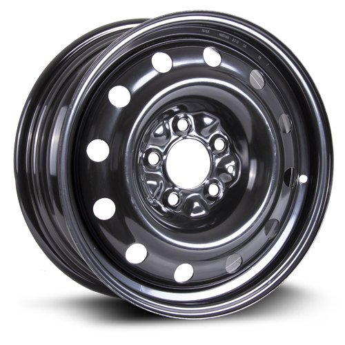 RTX, Steel Rim, New Aftermarket Wheel, 16X6.5, 5X114.3, 71.5, 40, black finish - Wheel New Black