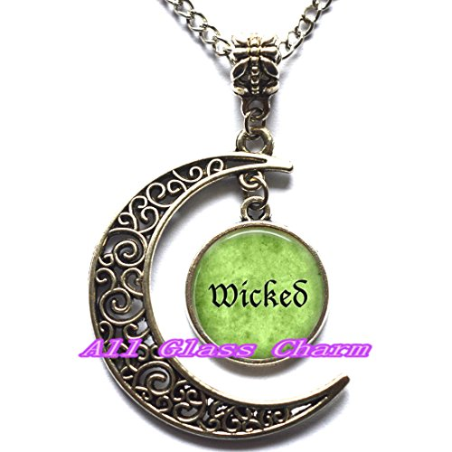 Delicate Moon Necklace,Crescent Moon Jewelry,Halloween Costume Pendant Necklace - Wicked - Wicked Pendant - Wicked Necklace - Witchy Woman - Witch Jewelry -