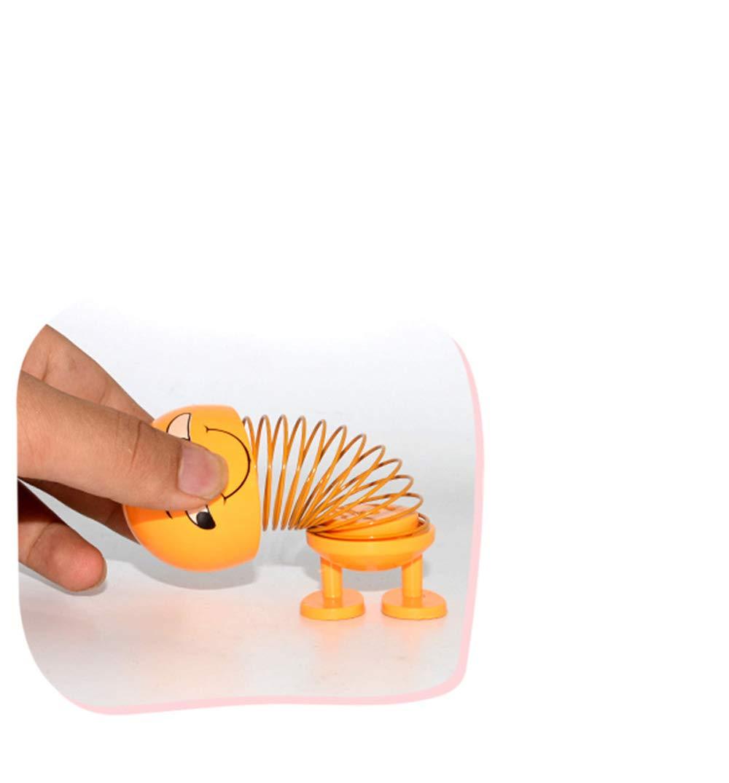 Decoraci/ón del hogar Fiesta Smiley Cute Baby Emoji Funny Toy Car Sprint Jewelry Regalo 8 piezas Car Spring Doll