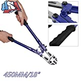 Bolt Lock Cutter-18 HD Hand Jaws Blades Chain Wire Fence Cable Rebar Wire 450mm Blue