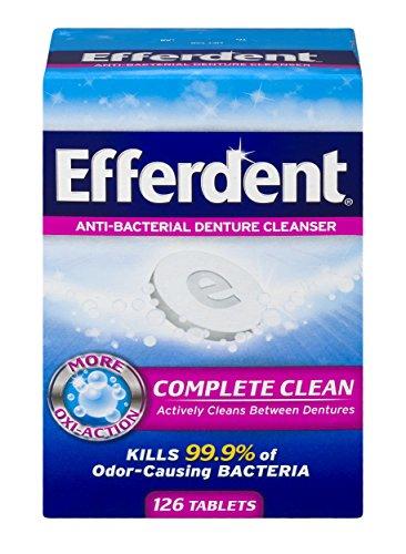Efferdent Anti-Bacterial Denture Cleansers   126 tablets  