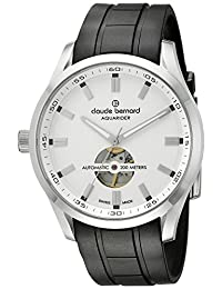 Claude Bernard Men's 85026 3CA AIN Aquarider Analog Display Swiss Automatic Black Watch