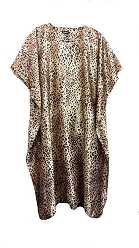 Femme 100% Polyester Woven Soft Silky Satin Long Kaftan. One Size Fit UK 10-32