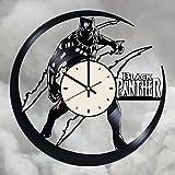 Black Panther superhero vinyl record wall clock