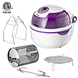Gourmia GTA-1500 Digital Electric Air Fryer, Griller and Roaster with Calorie Reducer Technology, White