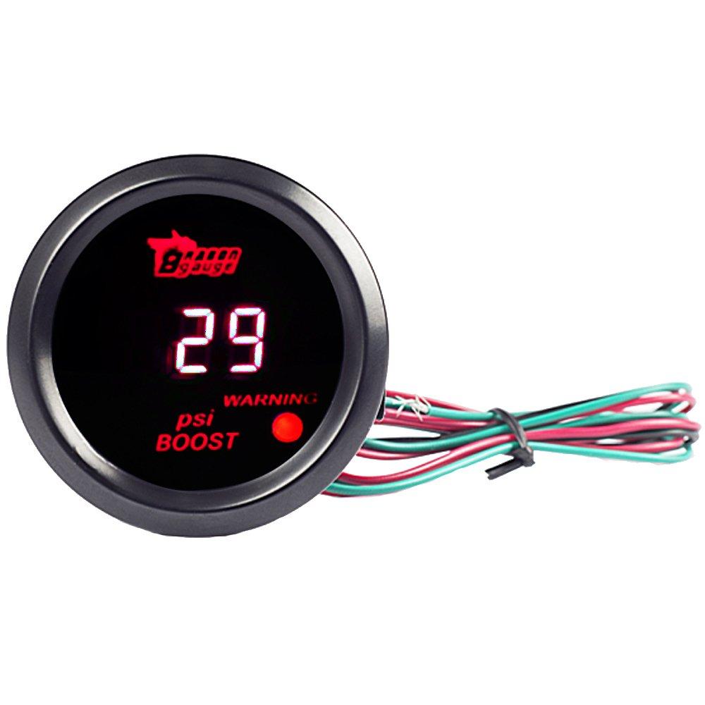 ESUPPORT Car 2 52mm Digital Water Temp Gauge Red LED Fahrenheit F