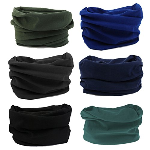 LOTUYACY Outdoor Wide Headband,Elastic Seamless Scarf UV Resistence Sport Headwear for Men&Women,Workout,Yoga,Multi Function,Constructed with High Performance Moisture Wicking Microfiber (Deep Set)