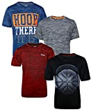 Hind Boys Performance Quick Dry Athletic Sports T-Shirt (4-Pack) (Hoop There It is, Large / 14-16)'