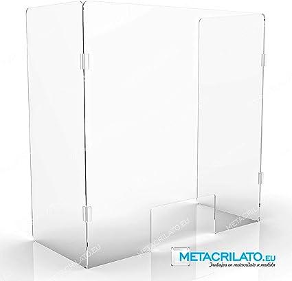 METACRILATO. EU Mampara/paraban plegable de metacrilato, protector para mostradores, barras y despachos (100 cm Ancho): Amazon.es: Oficina y papelería