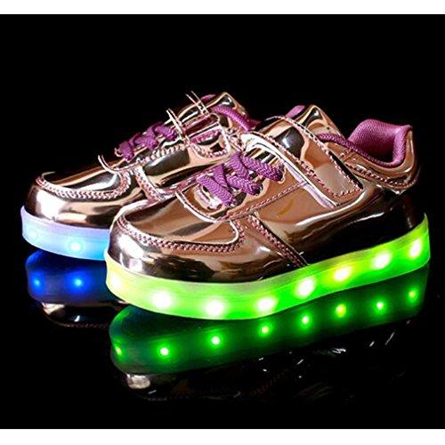 Kinder Jungen Lila SAGUARO USB Leuchtende LED Lade Mädchen Schuhe Schuhe Flashing Turnschuhe 0wdqpdZ