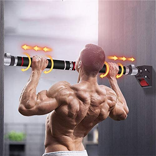HAKENO Pull Up Bar No Screw Installation Doorway Chin up Bar Adjustable Width Locking Mechanism Fitness Workout Bar Home Gym Equipment