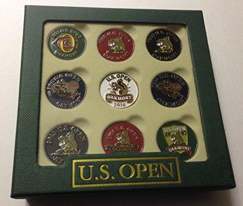 Oakmont ball marker set 9 pack 2016 U.S. Open golf tournament by Inkster Sports