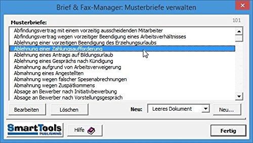 Smarttools Brief Und Fax Manager 2016 Für Word 2016 2013 2010