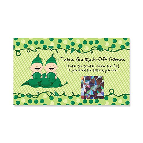 Twins Two Peas in a Pod - Baby Shower or Birthday Party Game Scratch Off Cards - 22 Count (Twins Two Pod Peas)