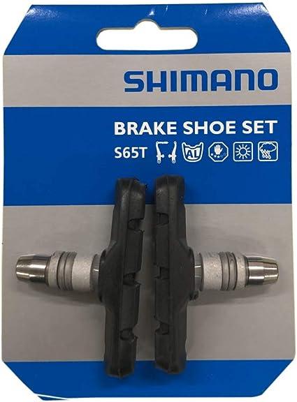 pour v/élo V-Brake IBK Lot de 2 paires de patins de frein antid/érapants de 70 mm avec /écrous hexagonaux et entretoises