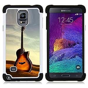 - Guitar/ H??brido 3in1 Deluxe Impreso duro Soft Alto Impacto caja de la armadura Defender - SHIMIN CAO - For Samsung Galaxy Note 4 SM-N910 N910