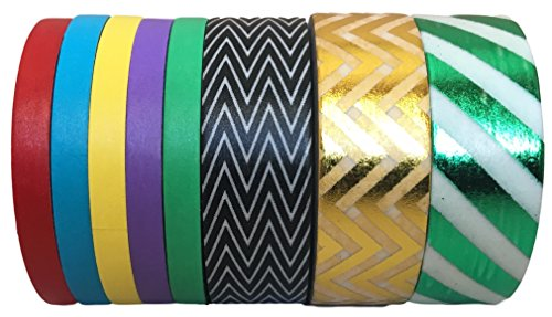 UPC 645759997623, Washi Tape by L'artisant - Premium Quality Set of 8 Rolls with Great Patterns. (Rainbow delight8)