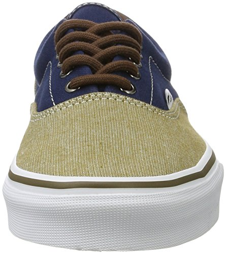 Unisex and Stitched up Durable Low Shoes Dress Classic Skate Double Era Canvas Original Style in Lace Blues Waffle Vans Top Outsole B4gnqfwq