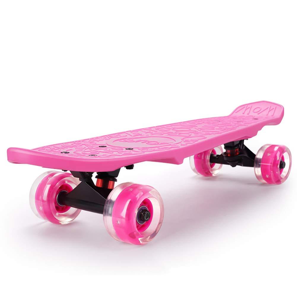 HH スクーター キックスクーター子供スケートボード2-12歳の少年少女、スタントキッズスクーターポータブルトイゲームスポーツアウトドア (色 : Red) B07L481P82 Pink Pink