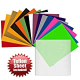 Angel Crafts 30.5cm x 25cm SISER Easyweed Heat Transfer Vinyl Sheets (16 PACK) w/ Teflon Sheet for T Shirts, Hats, Clothing - Best Iron On HTV Vinyl for Silhouette Cameo, Cricut or Heat Press Machine Tool