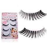 GreatFun 5 Pair Crisscross False Eyelashes Lashes Voluminous Eye Lashes