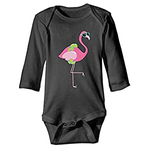 Cute Sunglasses Flamingo Unisex Baby Stylish Bodysuit Long Sleeves Romper Outfit Clothes