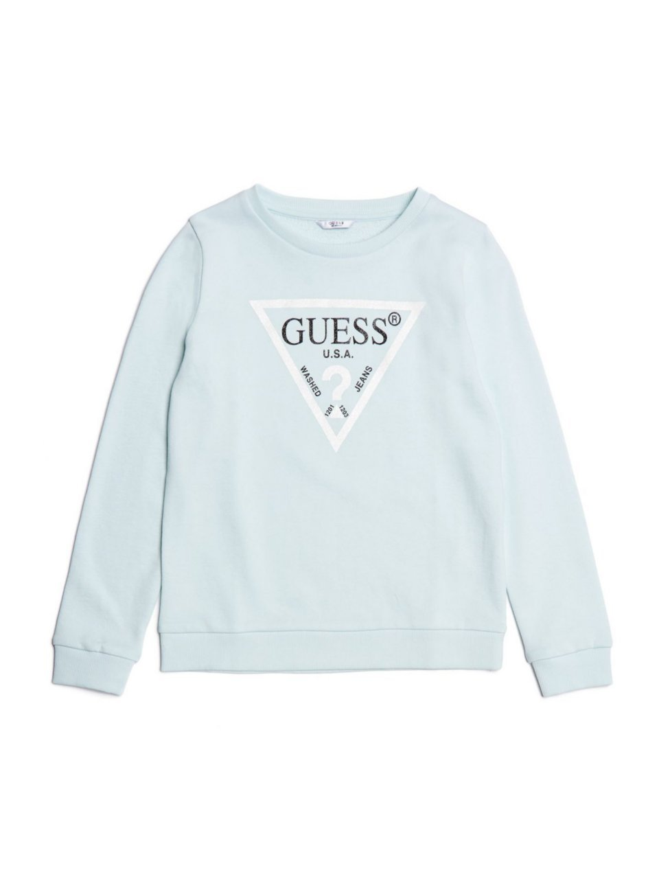 GUESS Girls Alaura Long Sleeve Activewear Logo Pull Over Core