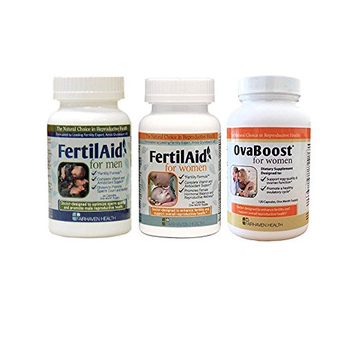 Fertilaid for Men, Fertilaid for Women and Ovaboost Combo - 1 Month Supply - Fertility Pills for Men and Women - Improve Your Chances of Getting Pregnant