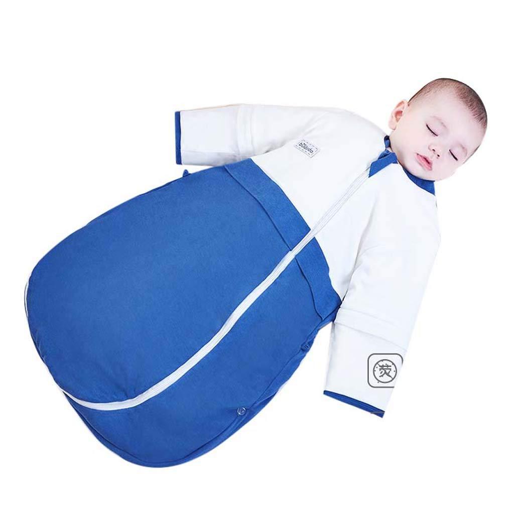 Yhz@ 1648/5000 寝袋赤ちゃんの秋と冬のアンチキック、厚手の100%綿のワンピースの寝袋 - カシミヤの綿の生地 - 100%の綿のパディング 75cm A B07KT3PD8Z