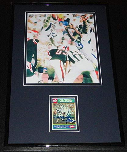 Signed Deacon Jones Picture - David Framed 11x17 Display - Autographed NFL Photos ()