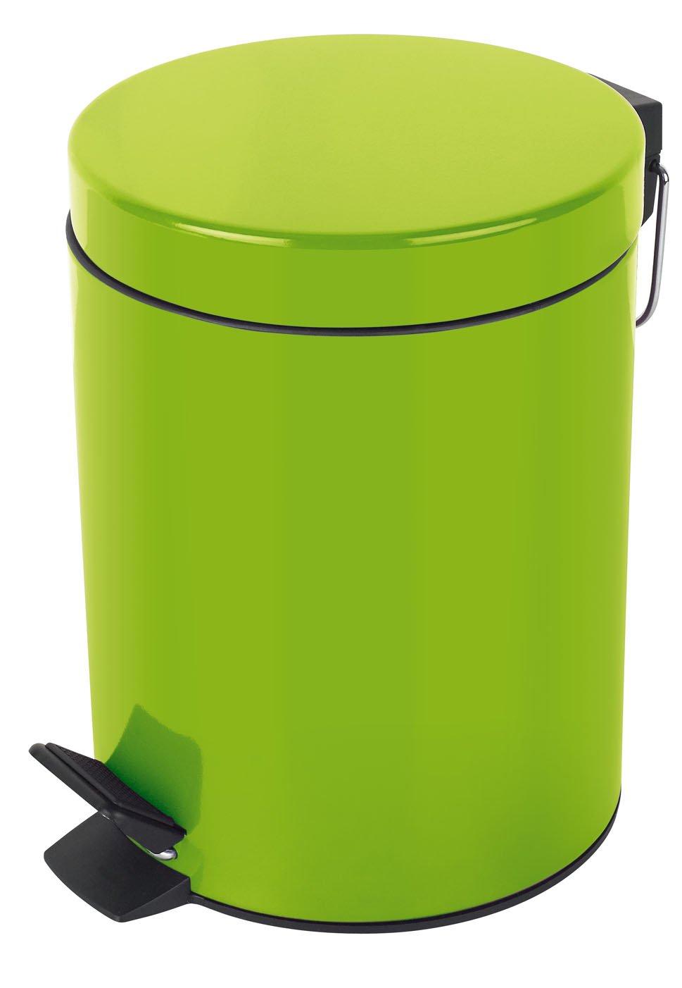 Metal Papelera con Pedal /Ø17 x 24,5 Verde Spirella colecci/ón Sydney 3 litros