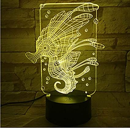 I Want A Hippocampus For Christmas.Amazon Com Rtyhi New Hippocampus Colorful 3d Lamp Touch