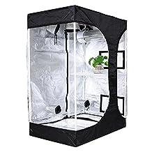"BloomGrow 36""x24""x53"" 48""x36""x72"" 2-in-1 Hydroponic Indoor Grow Tent Room Propagation High Reflective 600D Diamond Mylar Growing Plant w/Metal Corner (36""X24""X53"" (2-in-1)Lodge Propagation Tent)"