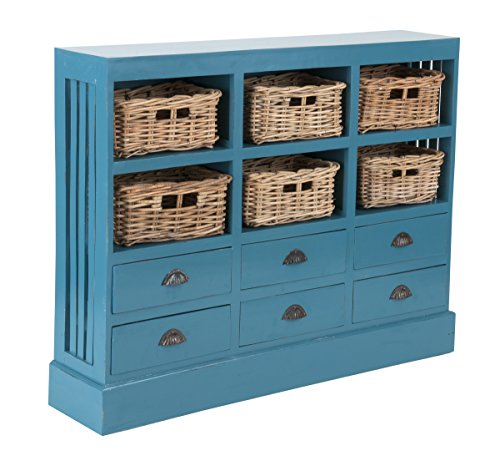East At Main's Oneal Mahogany Sideboard (Sky Blue) - Dining Room Painted Cabinet