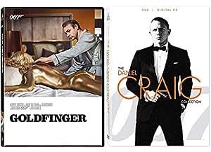 007 Sean Connery Goldfinger James Bond DVD + Daniel Craig Collection Skyfall / Quantum of Solace / Casino Royale 4 feature Films