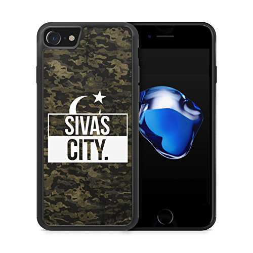 Sivas City Camouflage - Hülle für iPhone 7 SILIKON Handyhülle Case Cover Schutzhülle Hardcase - Türkische Türkce Turkish Türkei Türkiye Turkey Türk Asker Militär Military Design