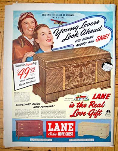 1948 Lane Cedar Hope Chest-Summer Sale 49.95-Original 13.5 * 10.5 Magazine Ad