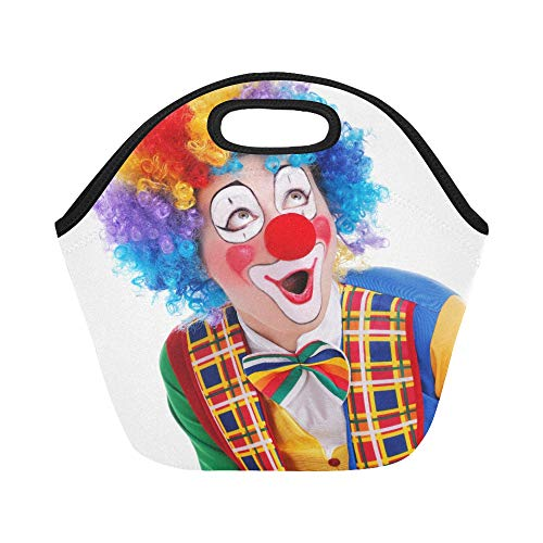 Insulated Neoprene Lunch Bag Clown Looking To The Copy for sale  Delivered anywhere in USA