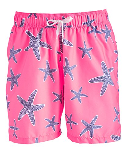 Kanu Surf Men's South Beach Quick Dry Volley Swim Trunks, Starfish Pink, Small -