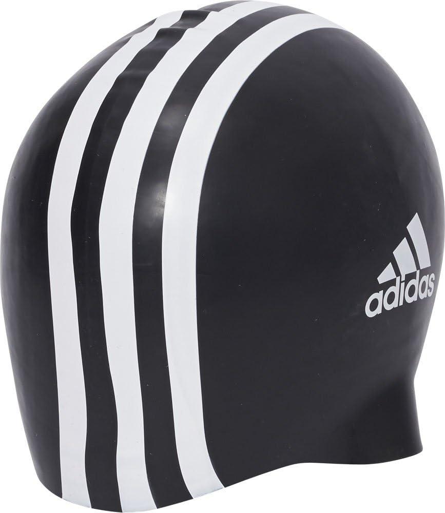 adidas Silicone 3-Stripes 1 Piece Gorro de Natación, Unisex Adulto, Black/White, NS: Amazon.es: Deportes y aire libre