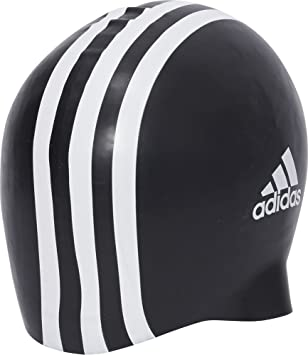 adidas Silicone 3-Stripes 1 Piece Swimming Cap, Unisex Adulto, Black/White, NS: Amazon.es: Deportes y aire libre