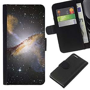 EJOY---La carpeta del tirón la caja de cuero de alta calidad de la PU Caso protector / Apple Iphone 5C / --Espacio Planet Galaxy Estrellas 1