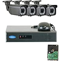 GW Security 4 Channel 1080P NVR HD IP Security Camera System with 4 x 1080P 2MP 2.8-12mm Varifocal Zoom Security Cameras